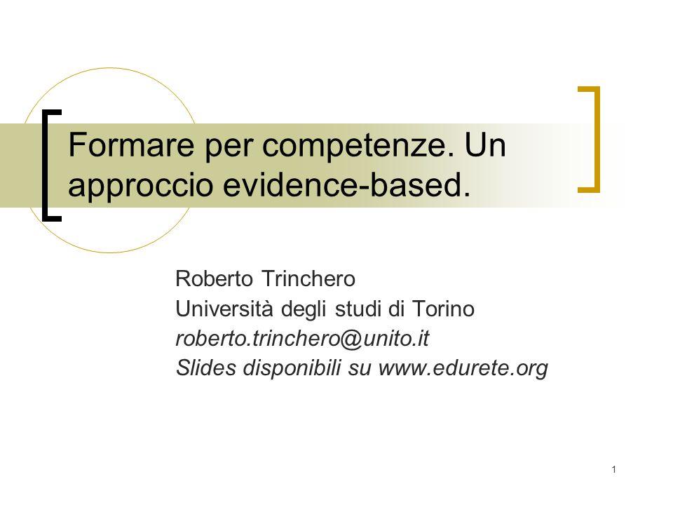 Formare per competenze. Un approccio evidence-based.