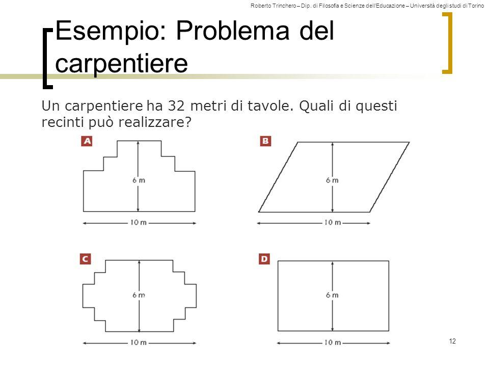 Esempio: Problema del carpentiere