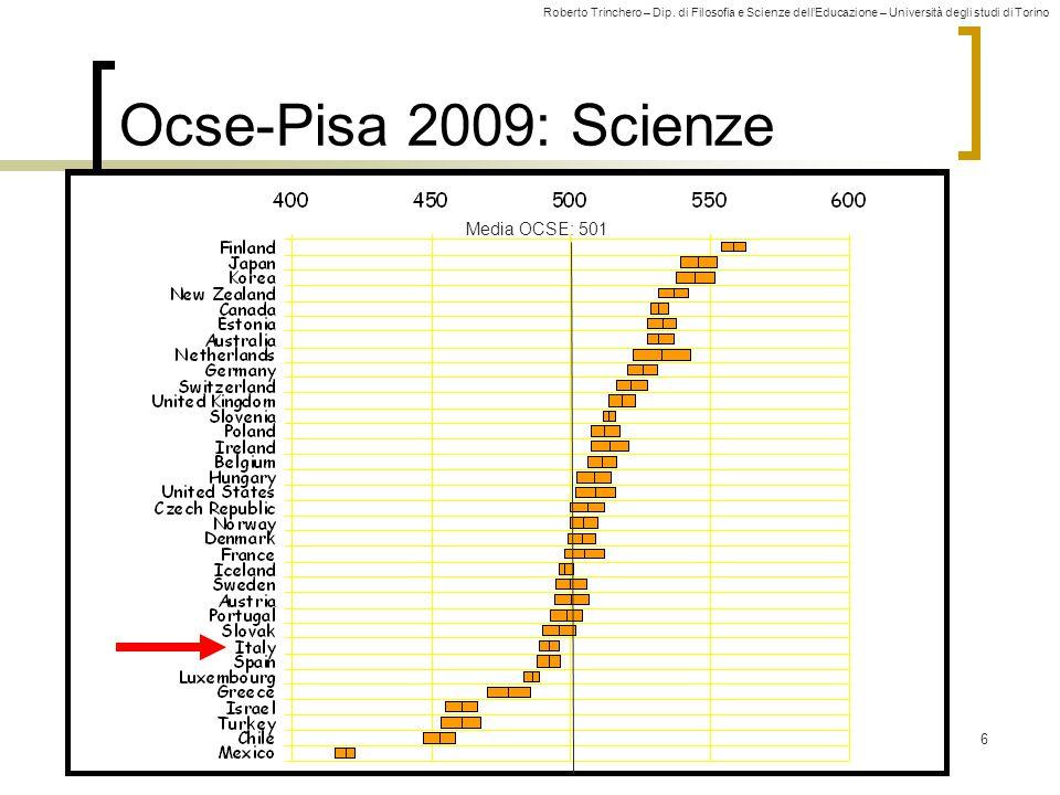 Ocse-Pisa 2009: Scienze Media OCSE: 501