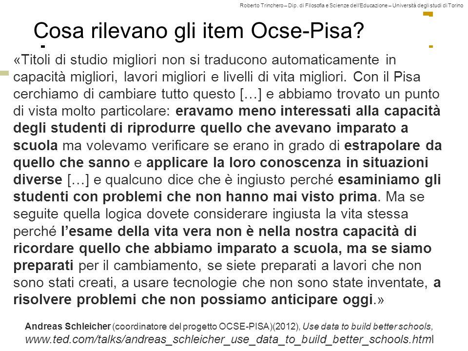 Cosa rilevano gli item Ocse-Pisa
