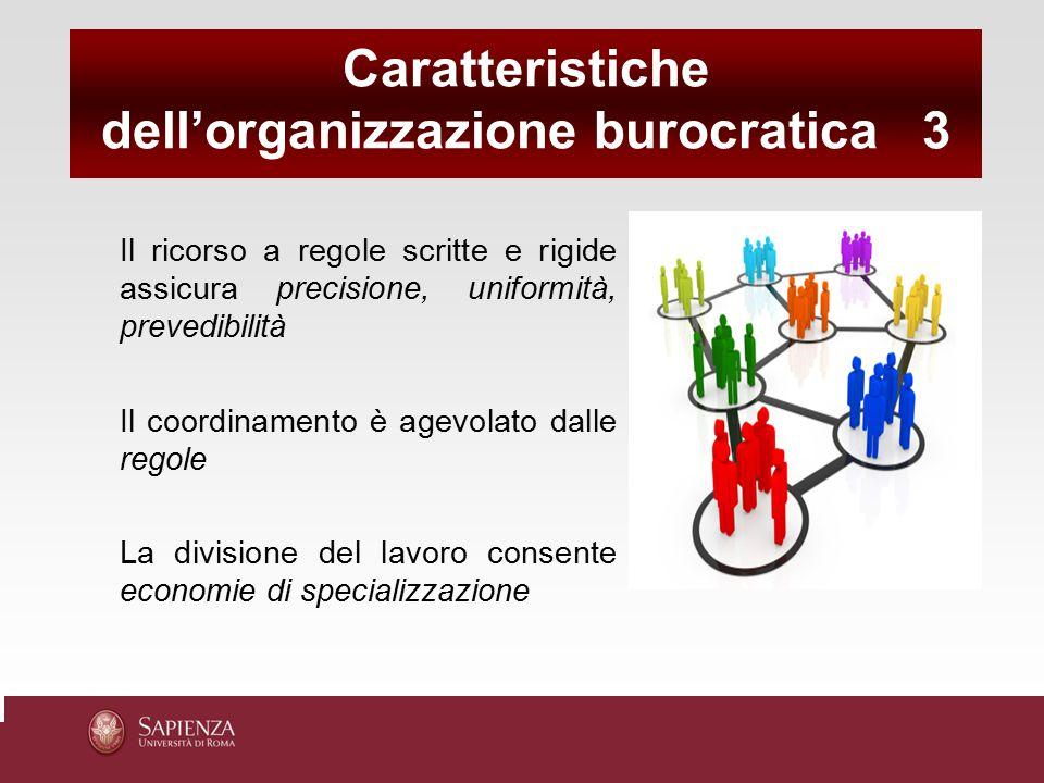 dell'organizzazione burocratica 3