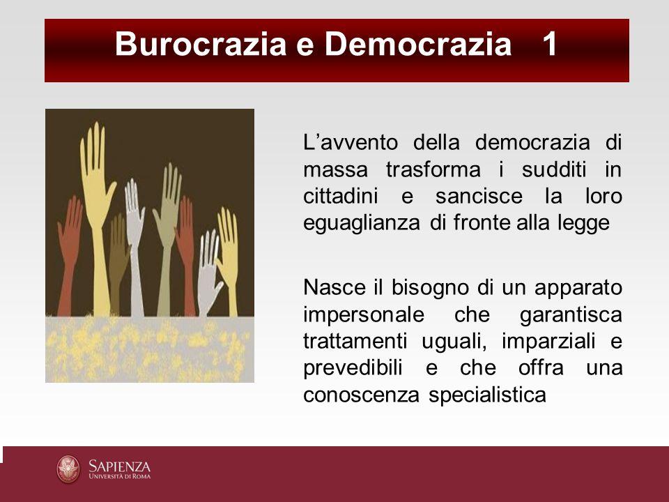 Burocrazia e Democrazia 1