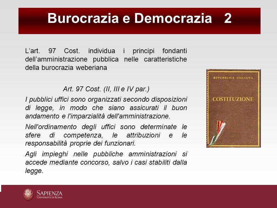 Burocrazia e Democrazia 2