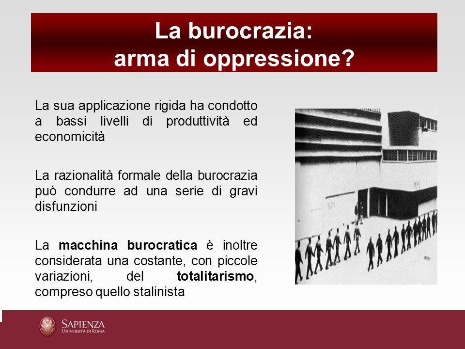La burocrazia: arma di oppressione