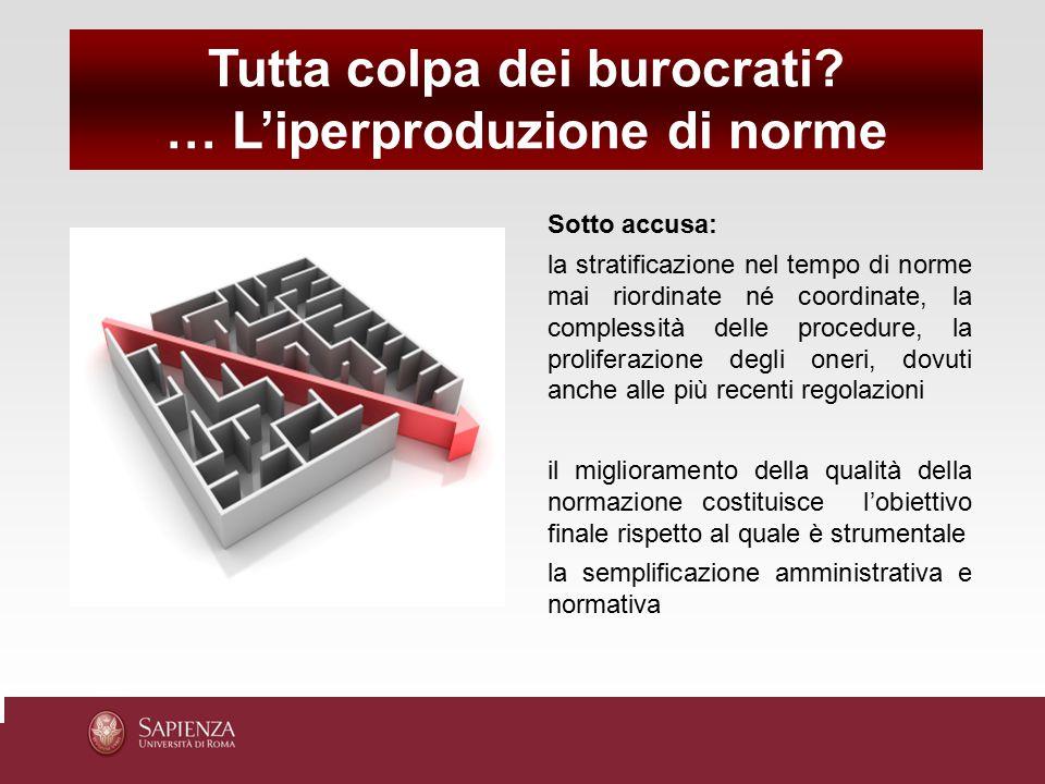 Tutta colpa dei burocrati … L'iperproduzione di norme