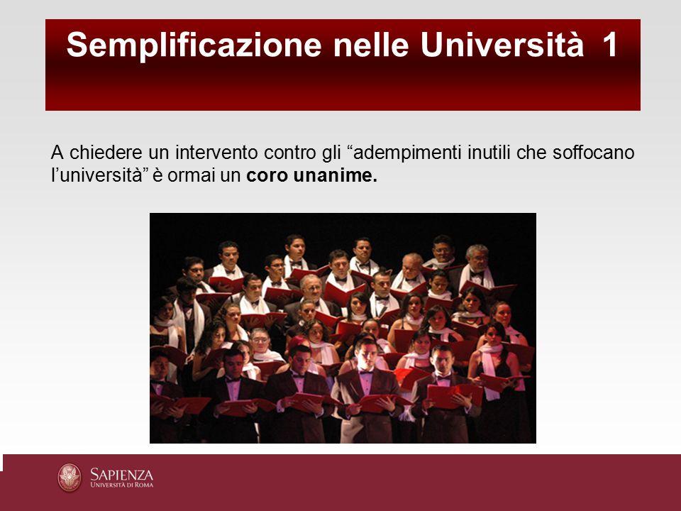 Semplificazione nelle Università 1