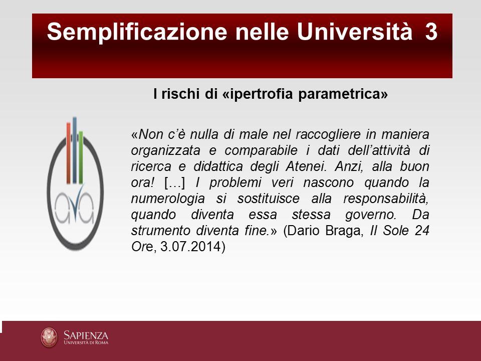 Semplificazione nelle Università 3