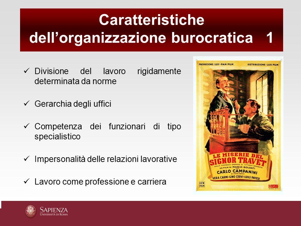 dell'organizzazione burocratica 1