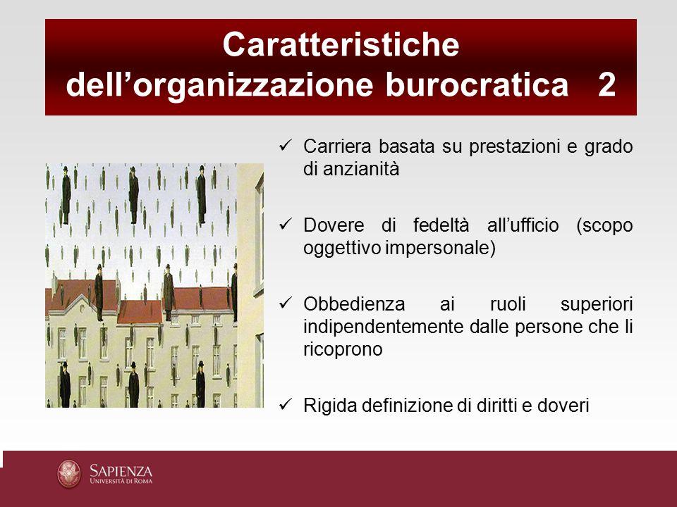 dell'organizzazione burocratica 2