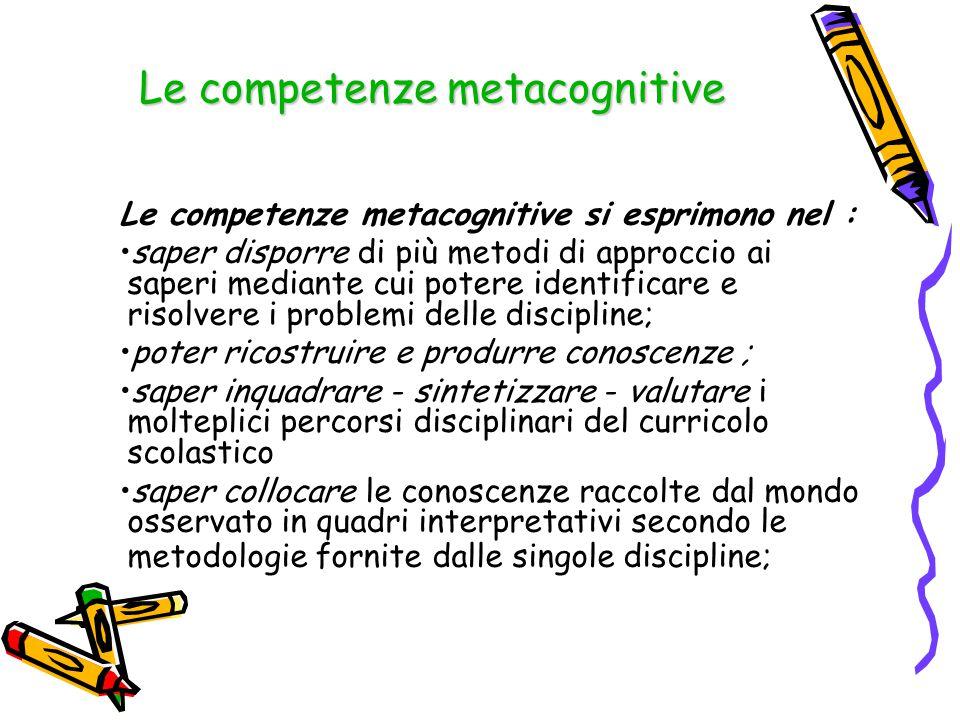 Le competenze metacognitive