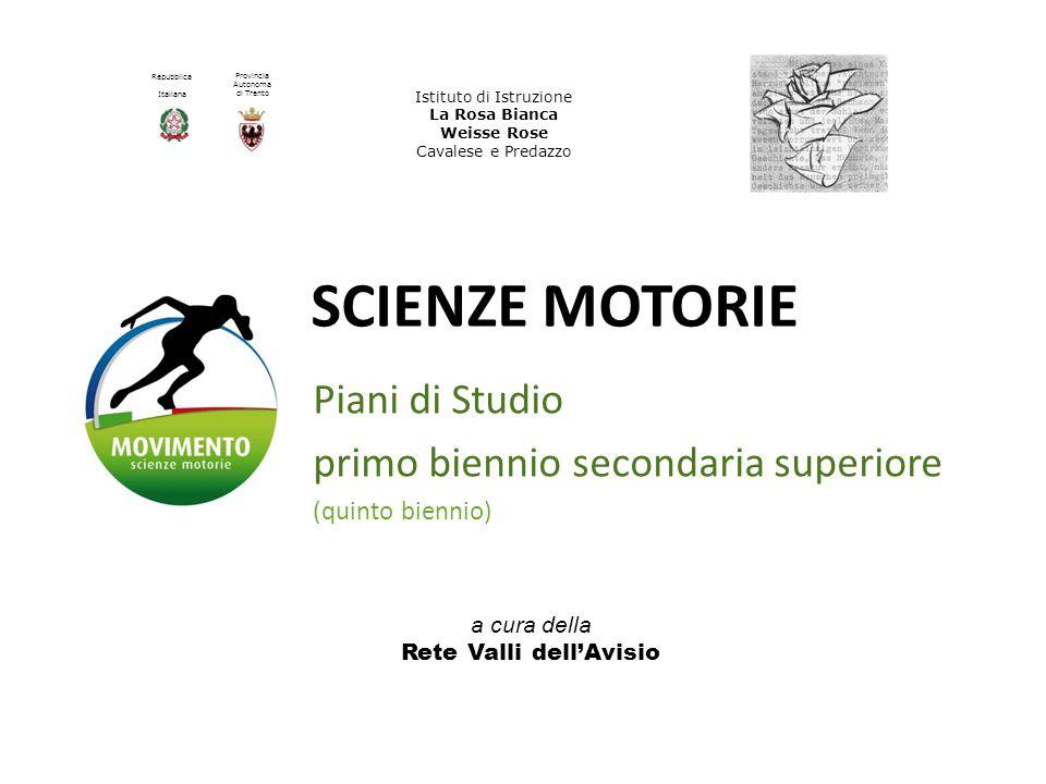 Piani di Studio primo biennio secondaria superiore (quinto biennio)