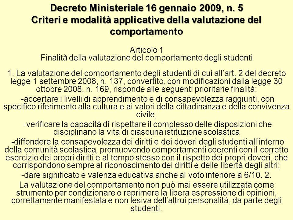 Decreto Ministeriale 16 gennaio 2009, n