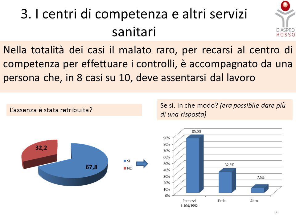 3. I centri di competenza e altri servizi sanitari