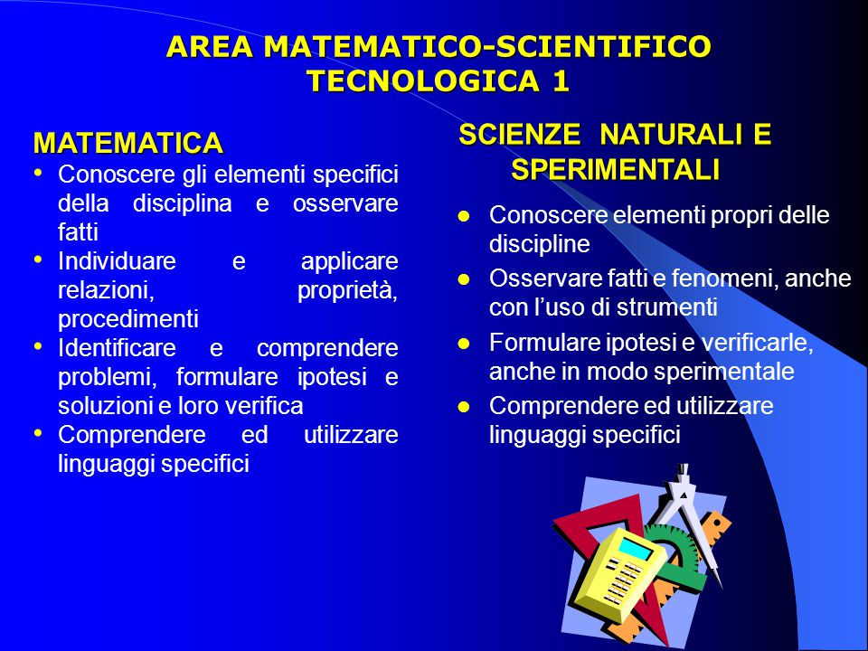 AREA MATEMATICO-SCIENTIFICO TECNOLOGICA 1