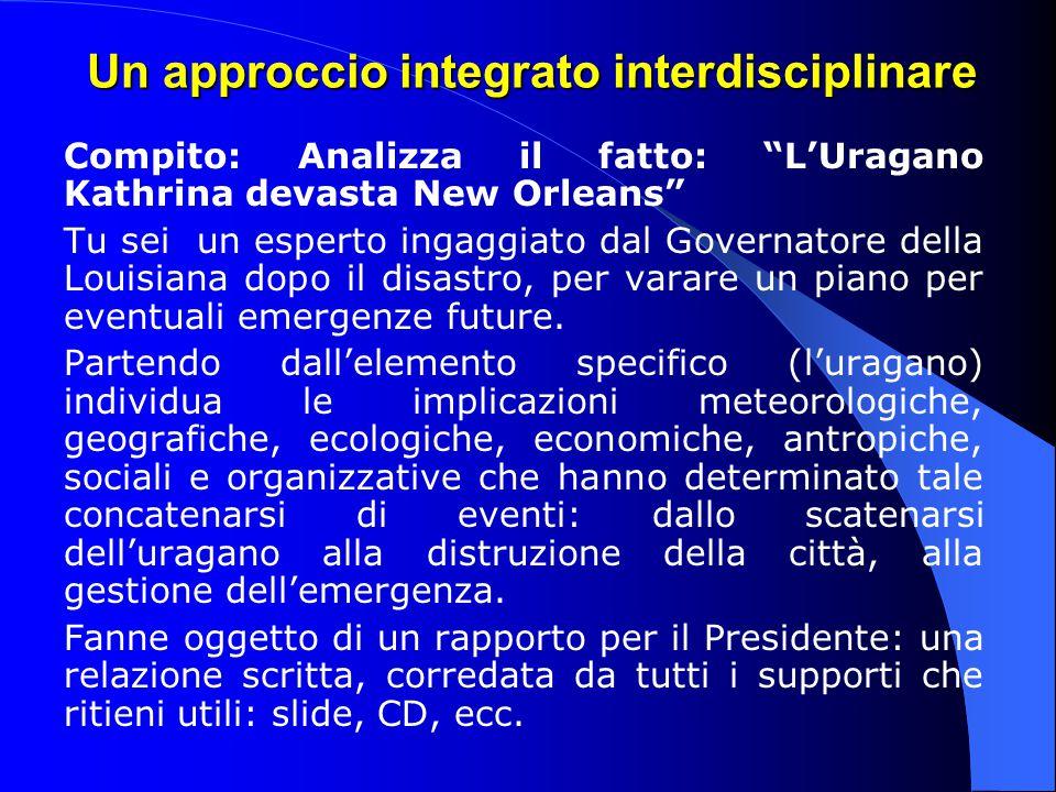 Un approccio integrato interdisciplinare