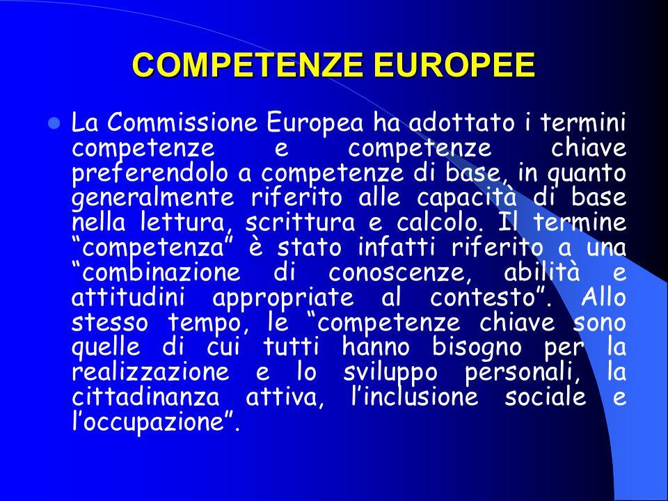 COMPETENZE EUROPEE