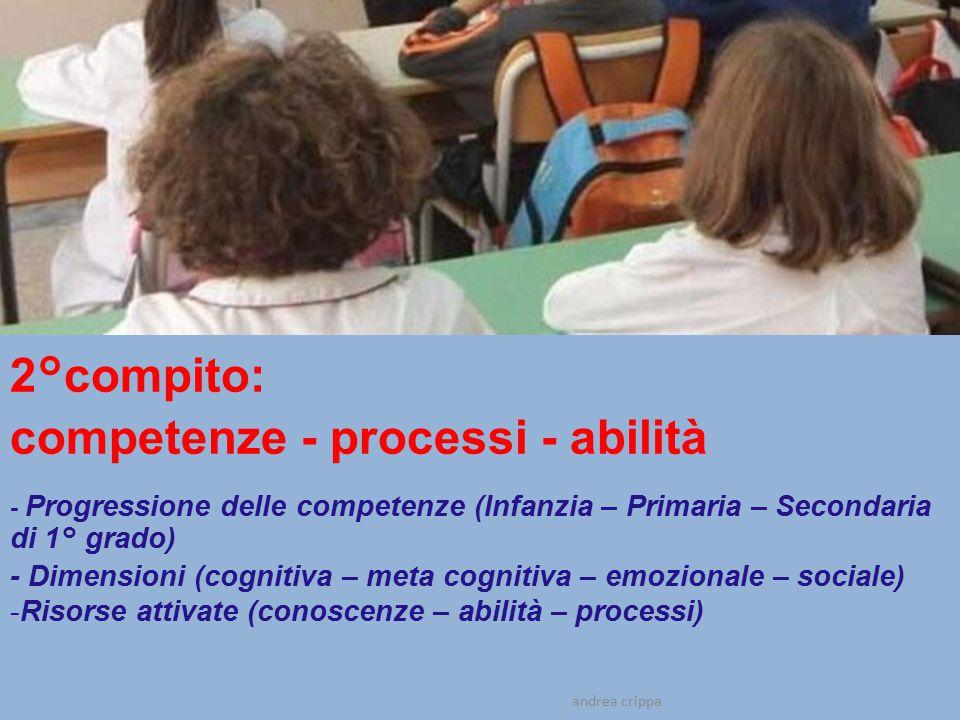 competenze - processi - abilità