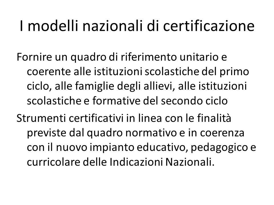 I modelli nazionali di certificazione