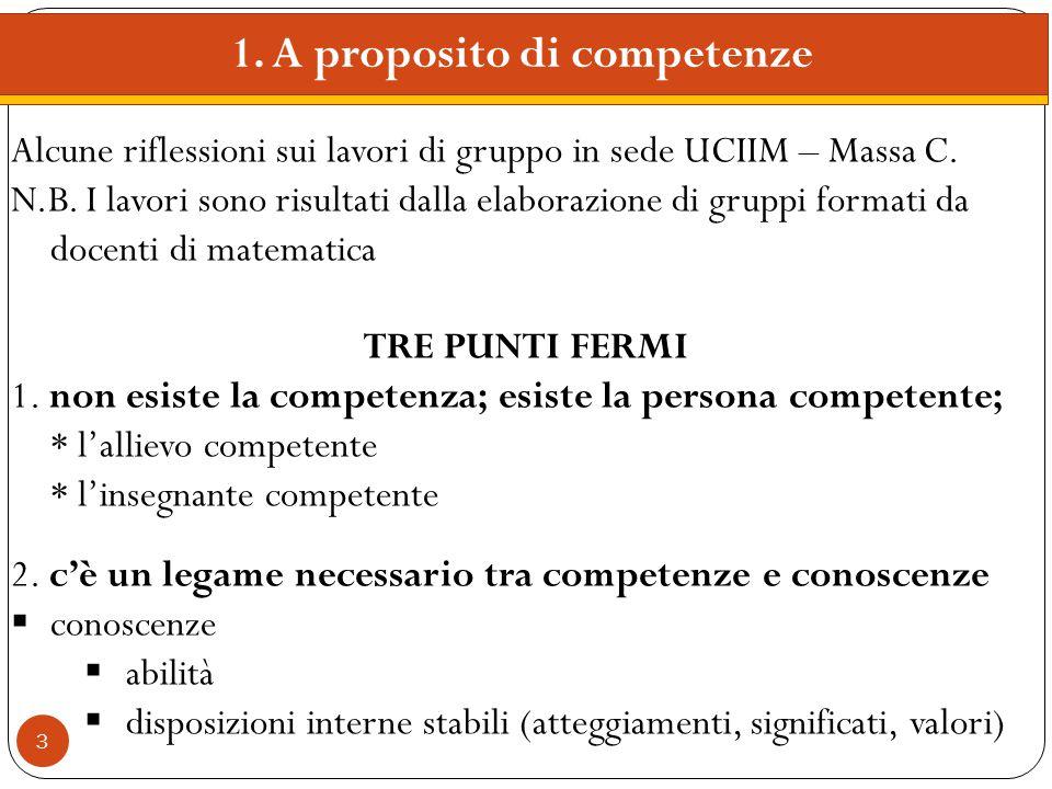 1. A proposito di competenze