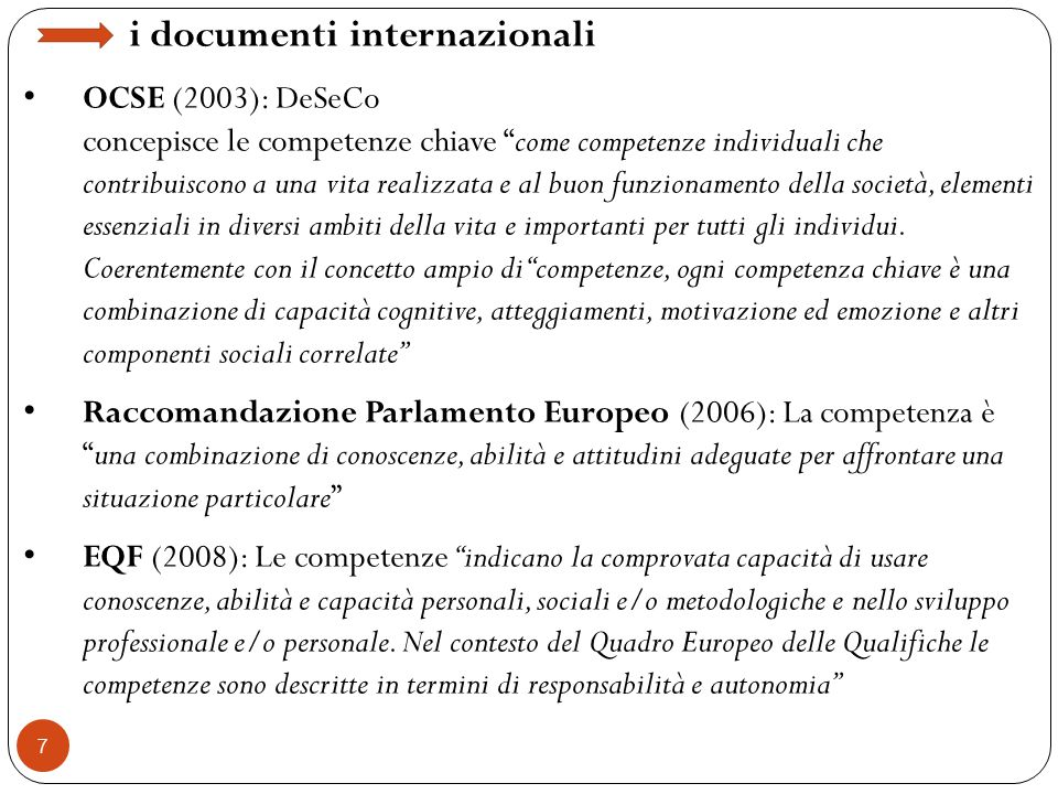 i documenti internazionali