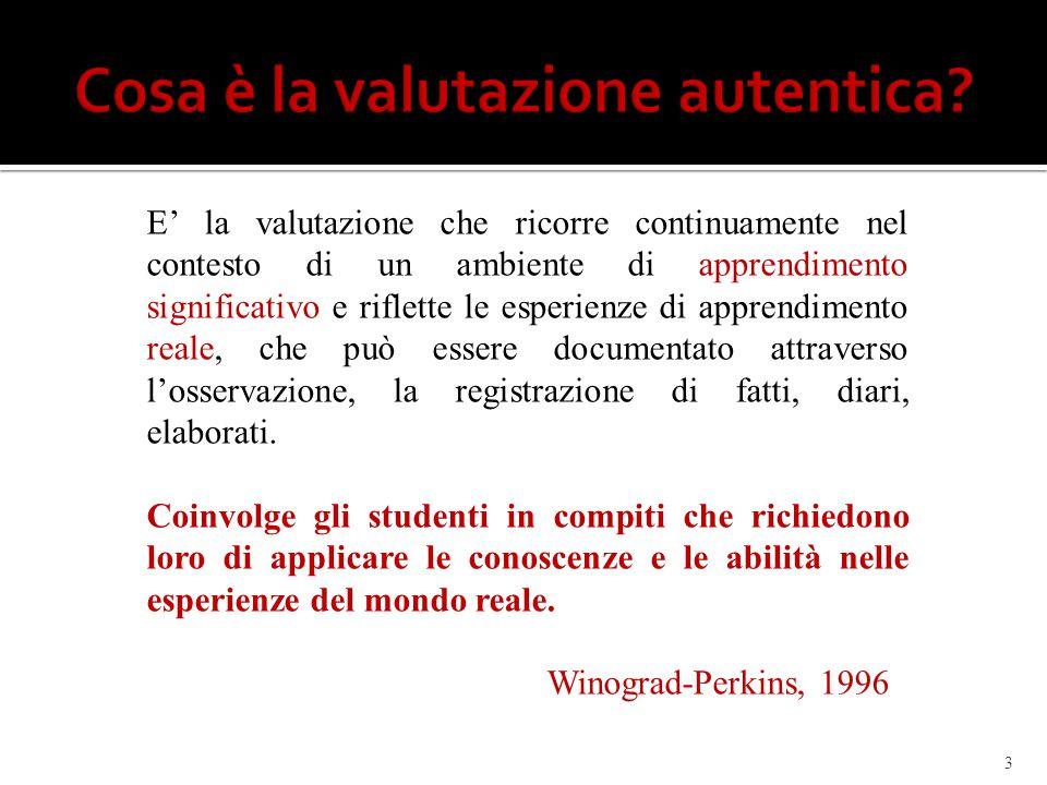 Cosa è la valutazione autentica