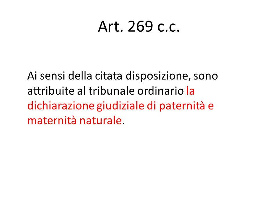 Art. 269 c.c.