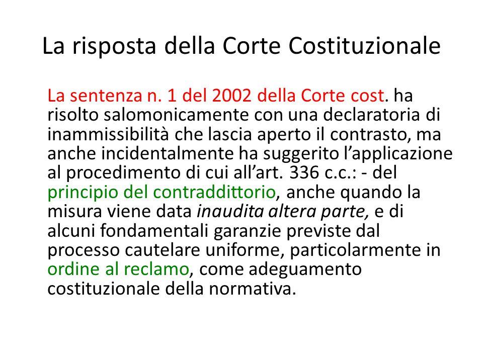 La risposta della Corte Costituzionale
