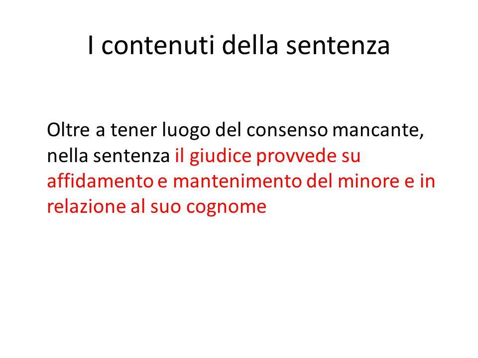 I contenuti della sentenza