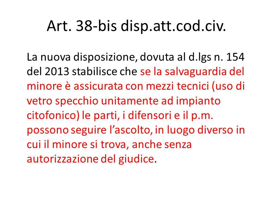 Art. 38-bis disp.att.cod.civ.