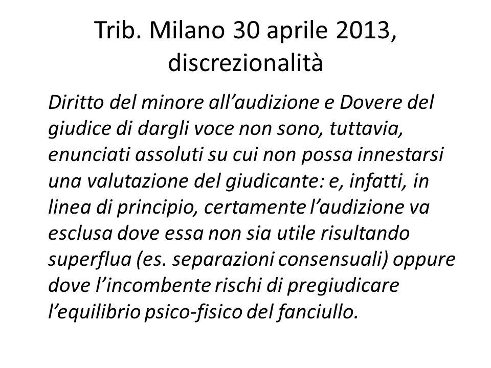 Trib. Milano 30 aprile 2013, discrezionalità