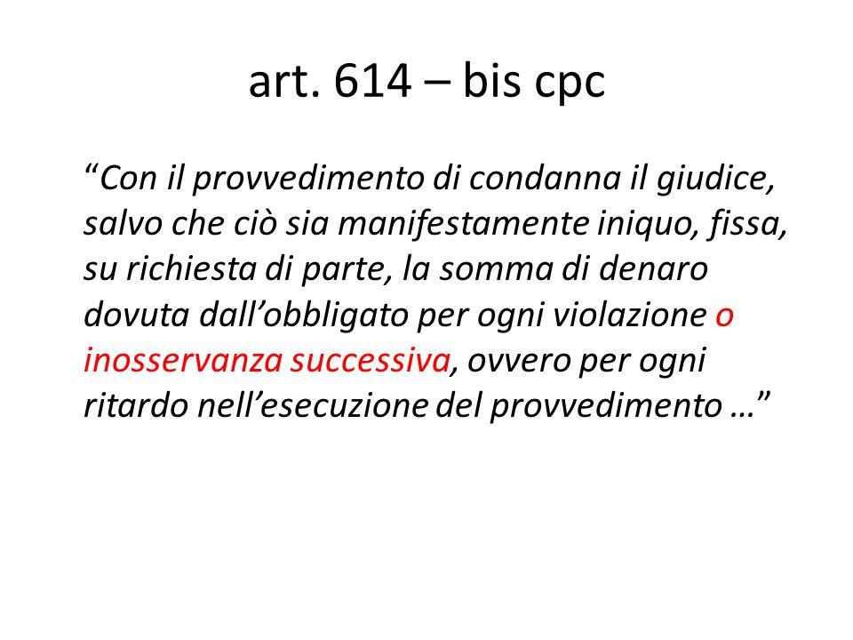 art. 614 – bis cpc