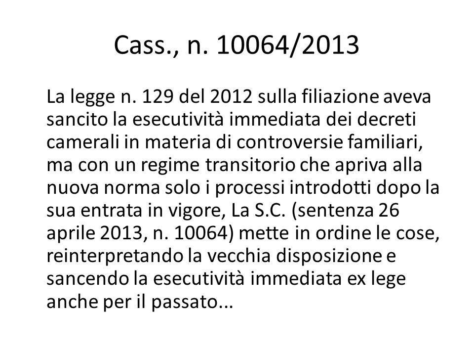 Cass., n. 10064/2013