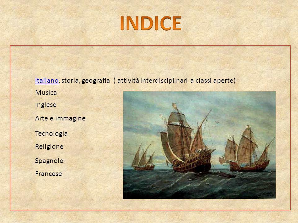 INDICE Italiano, storia, geografia ( attività interdisciplinari a classi aperte) Musica. Inglese.
