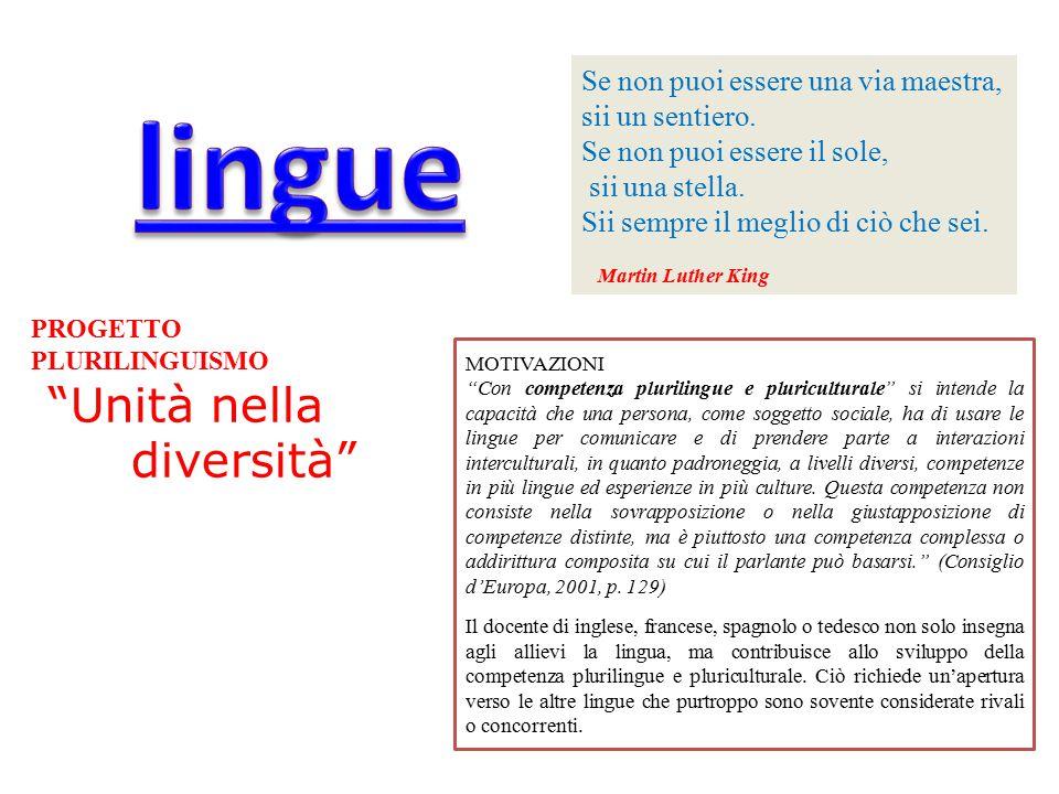 lingue Unità nella diversità