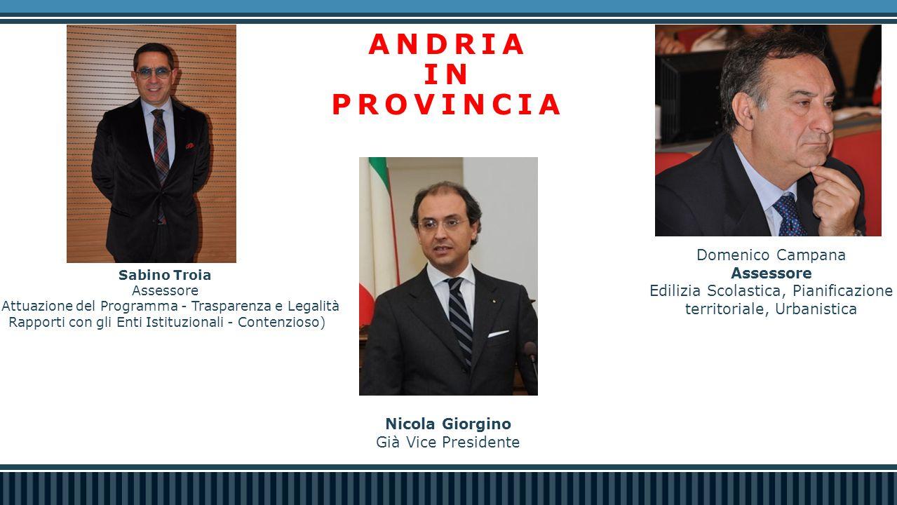 ANDRIA IN PROVINCIA Domenico Campana Assessore