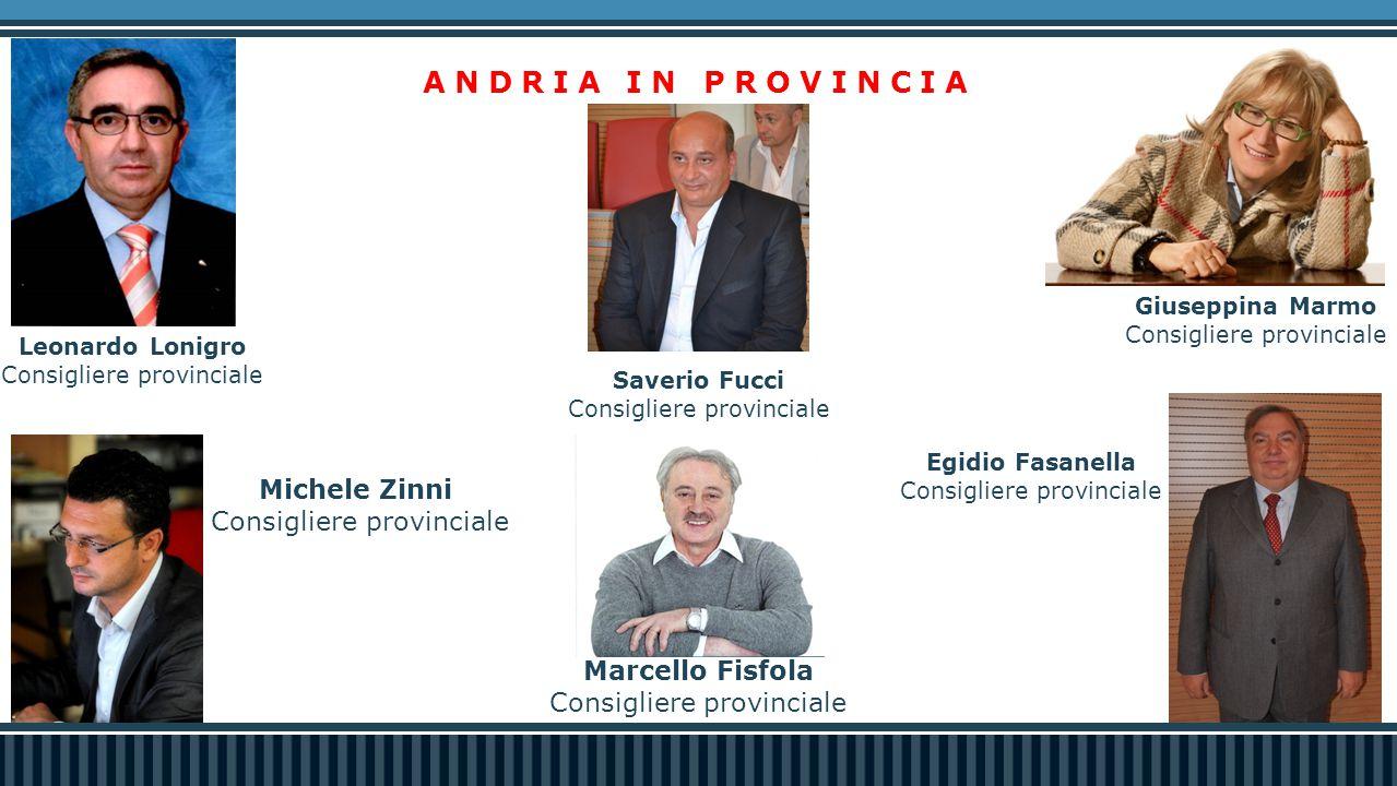 ANDRIA IN PROVINCIA Michele Zinni Consigliere provinciale