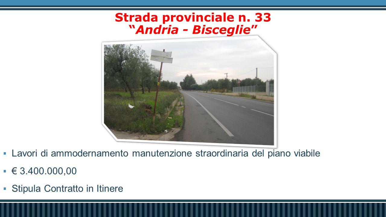 Strada provinciale n. 33 Andria - Bisceglie