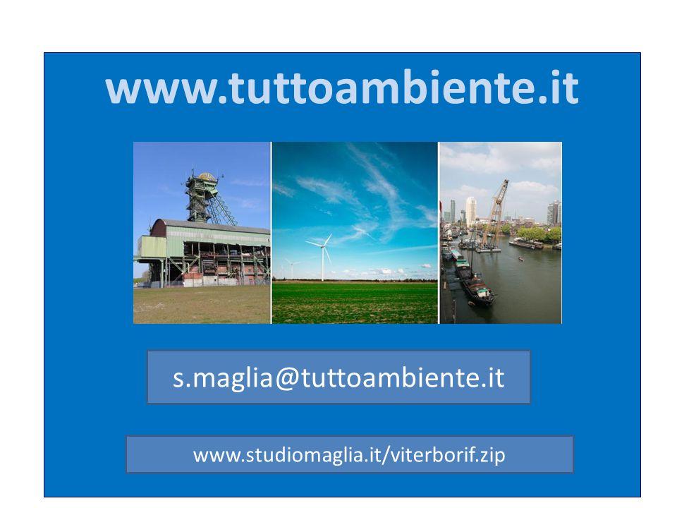 www.tuttoambiente.it s.maglia@tuttoambiente.it