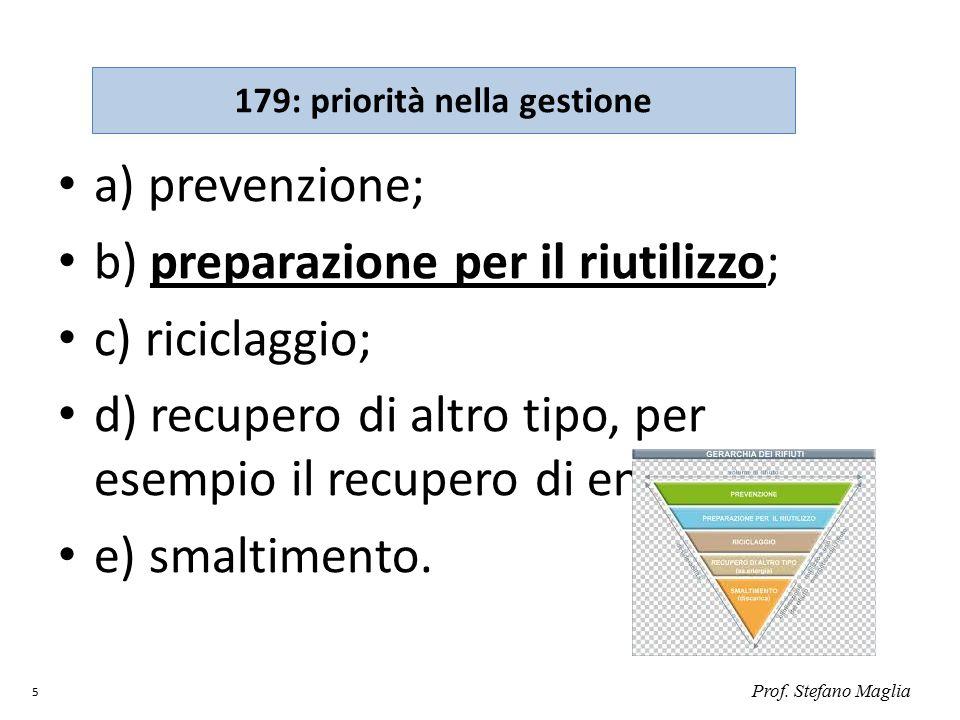 179: priorità nella gestione