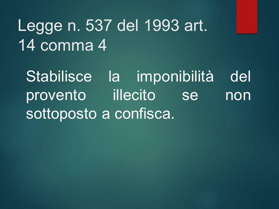 Legge n. 537 del 1993 art.