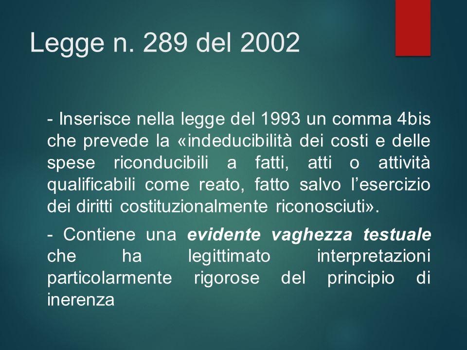 Legge n. 289 del 2002