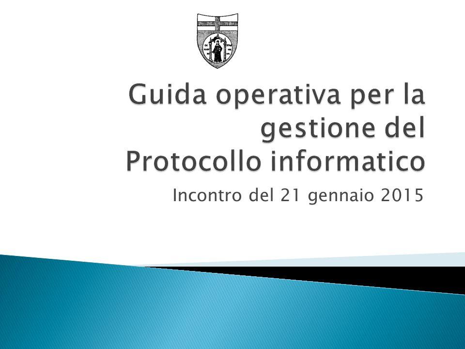 Guida operativa per la gestione del Protocollo informatico