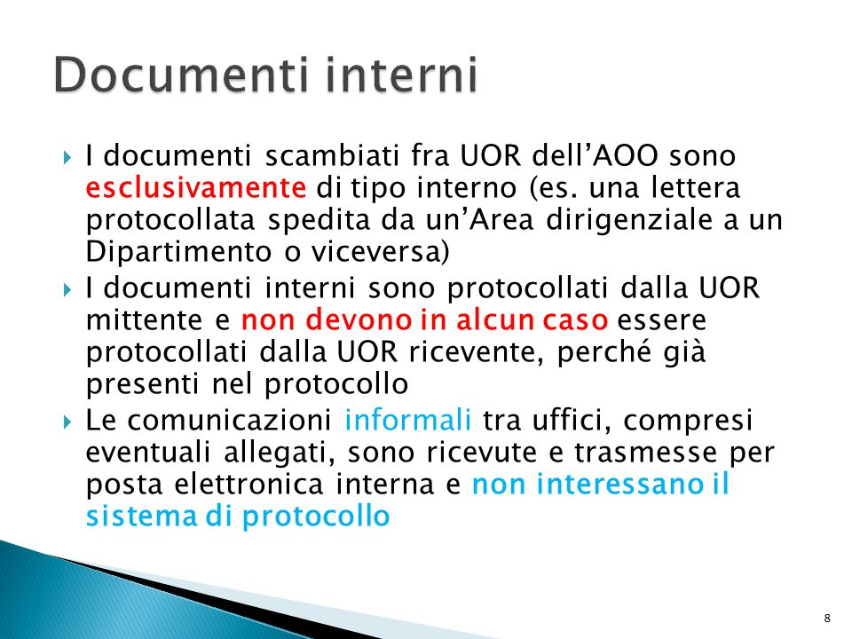 Documenti interni