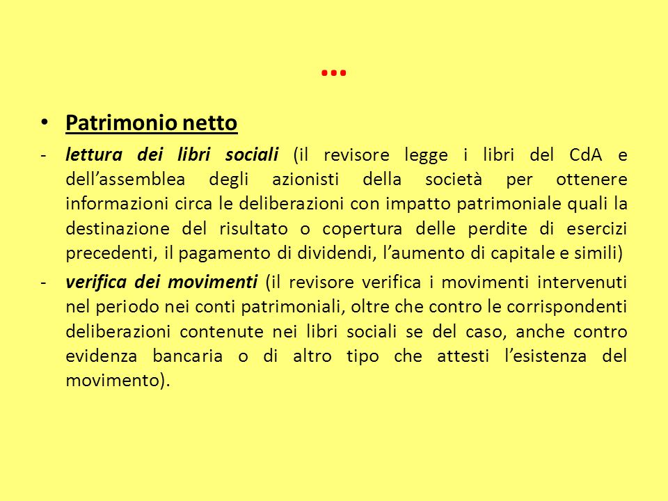 … Patrimonio netto.
