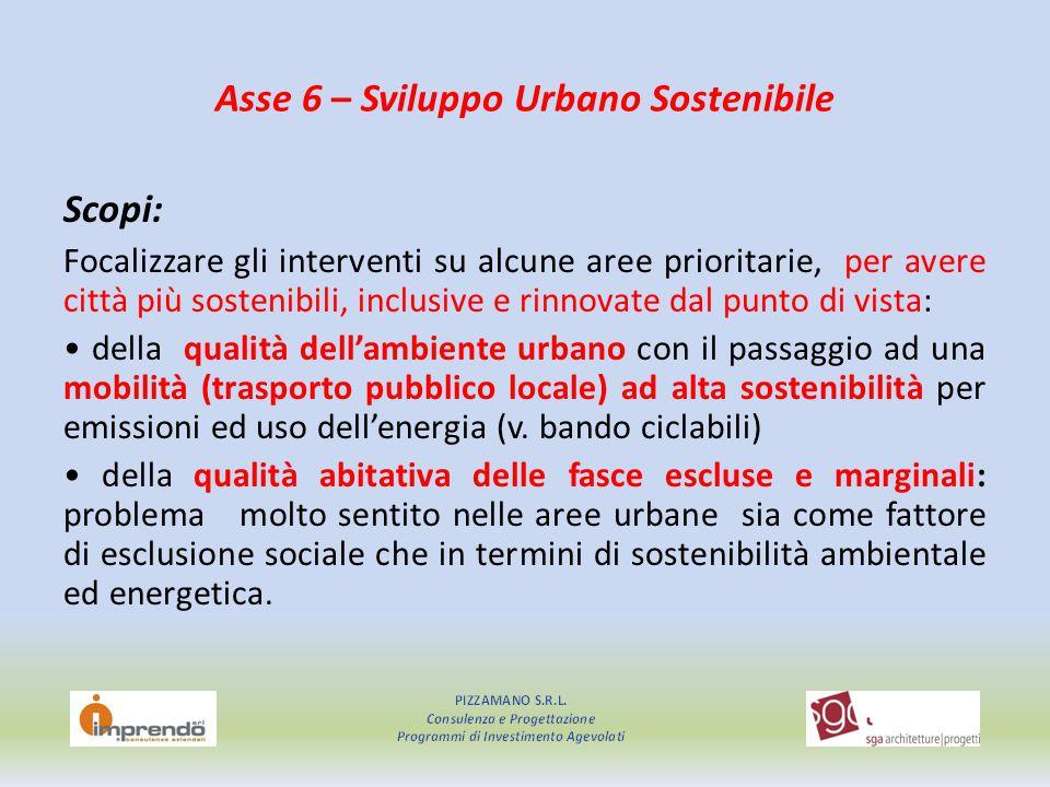 Asse 6 – Sviluppo Urbano Sostenibile