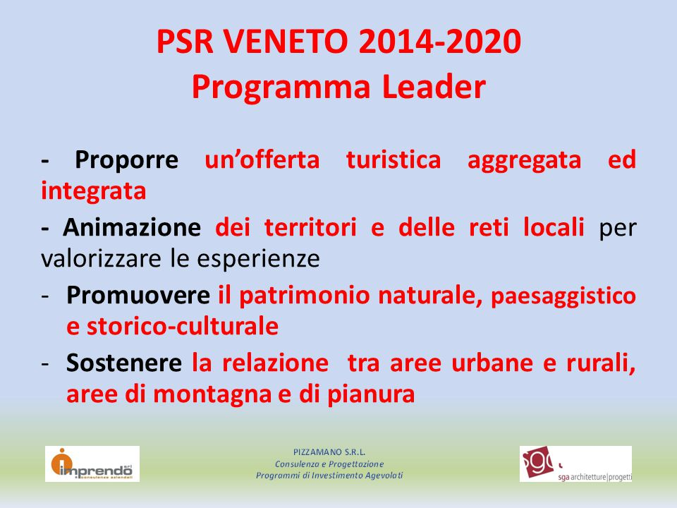 PSR VENETO 2014-2020 Programma Leader