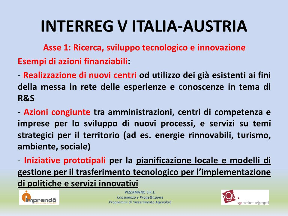 INTERREG V ITALIA-AUSTRIA