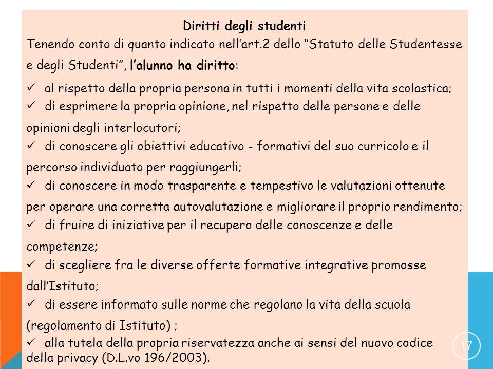 Diritti degli studenti