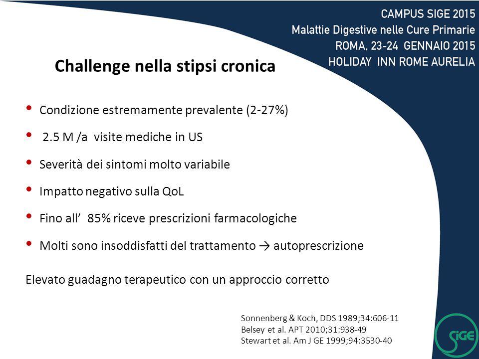 Challenge nella stipsi cronica
