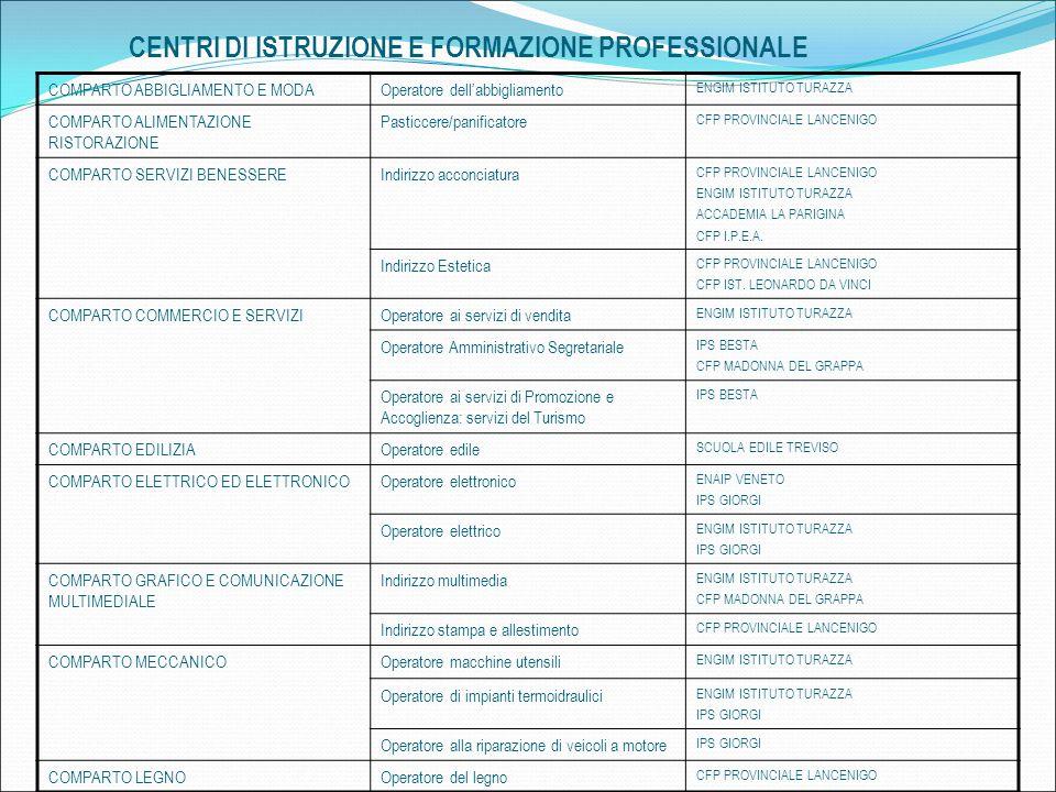 CENTRI DI ISTRUZIONE E FORMAZIONE PROFESSIONALE